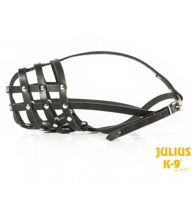 Museruola Julius-K9 Muzzle leather light large